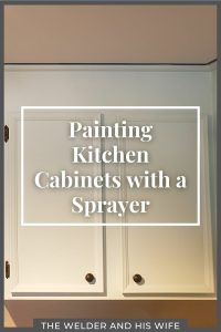 painting kitchen cabinets with a sprayer