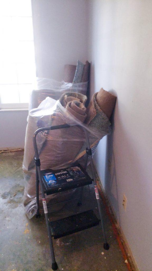 girls bedroom demolition